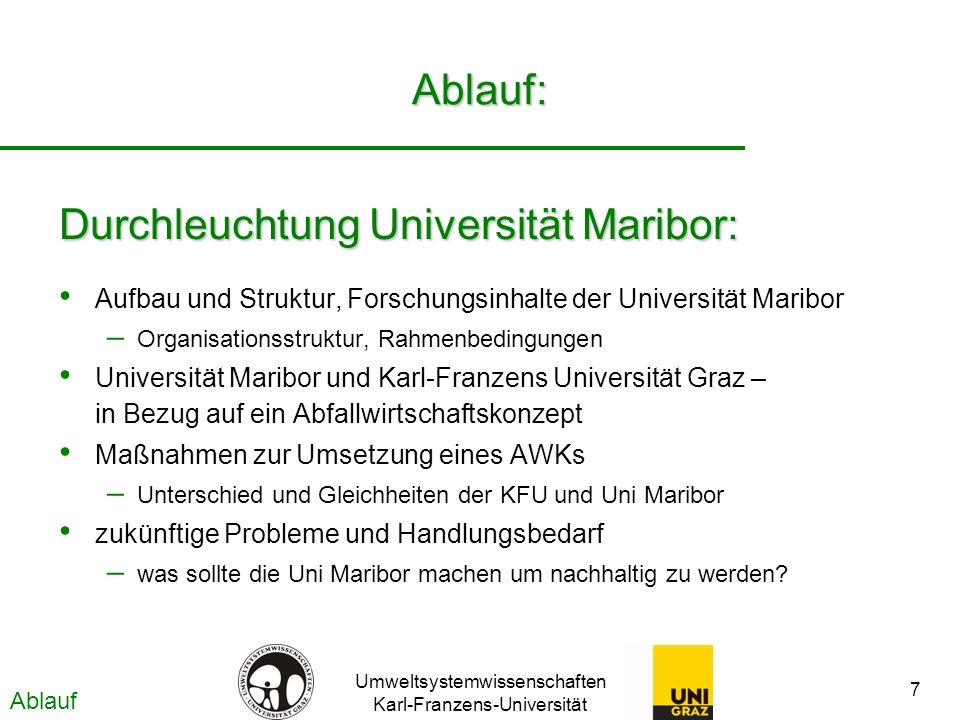 Durchleuchtung Universität Maribor: