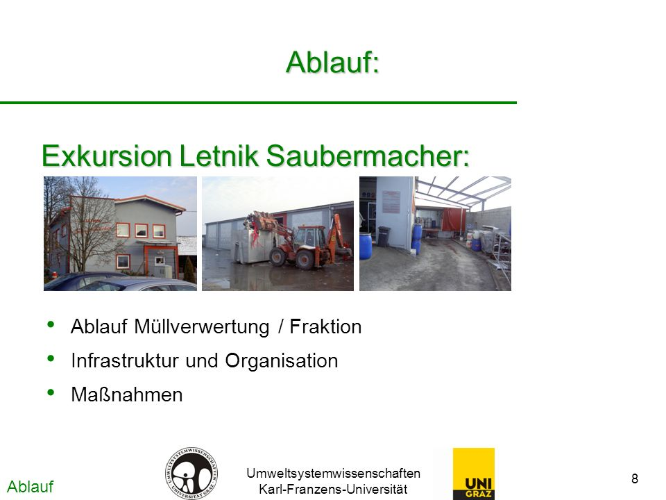 Exkursion Letnik Saubermacher: