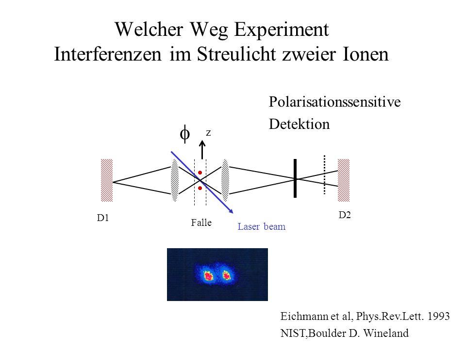 Welcher Weg Experiment Interferenzen im Streulicht zweier Ionen