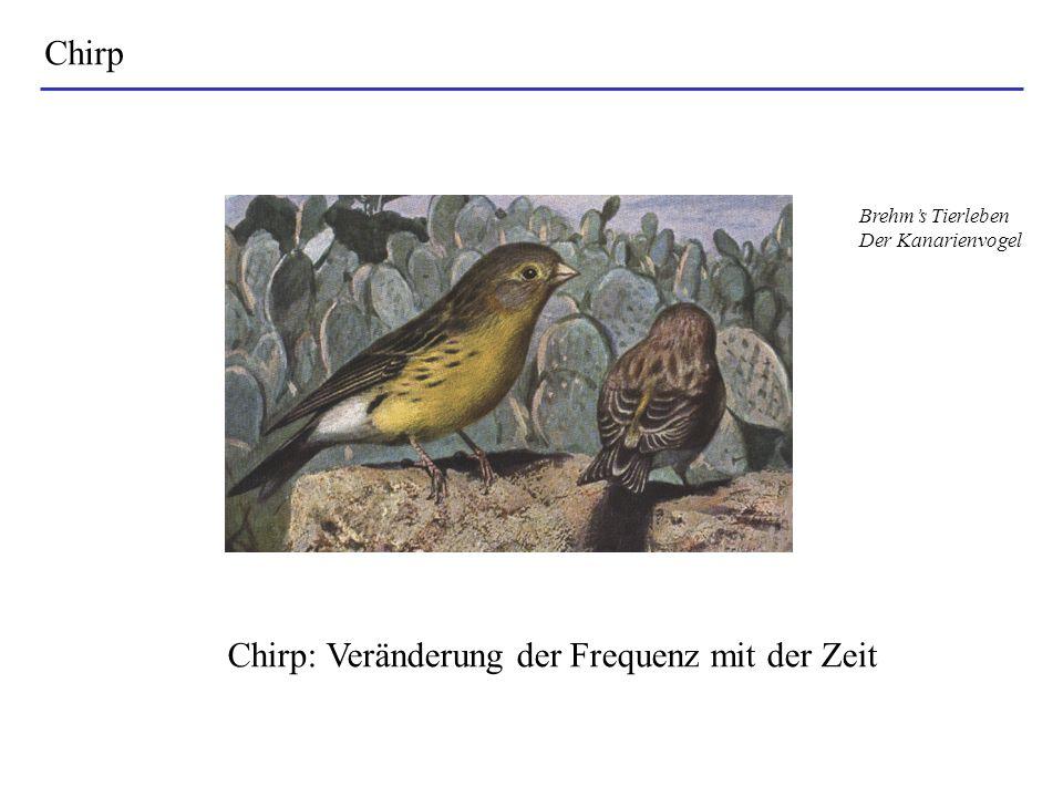 Chirp: Veränderung der Frequenz mit der Zeit
