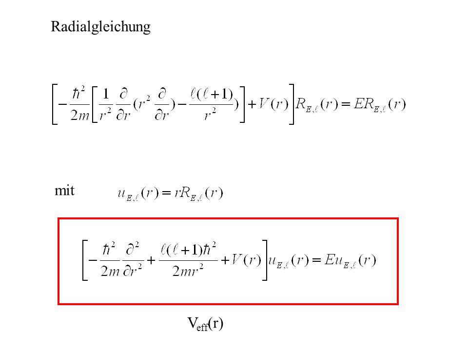 Radialgleichung mit Veff(r)