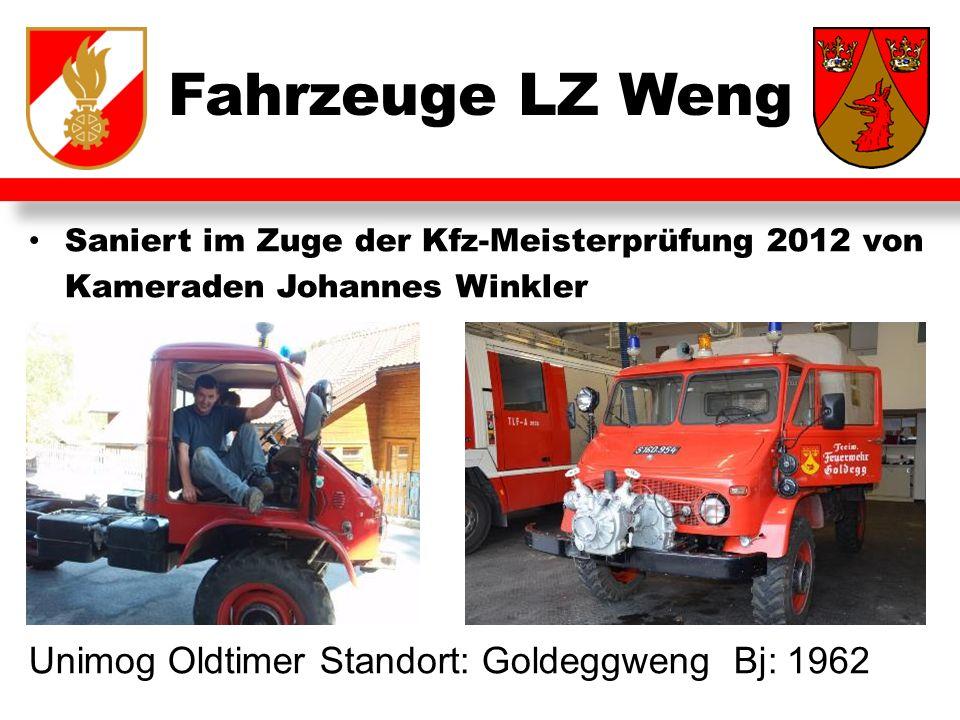 Fahrzeuge LZ Weng Unimog Oldtimer Standort: Goldeggweng Bj: 1962