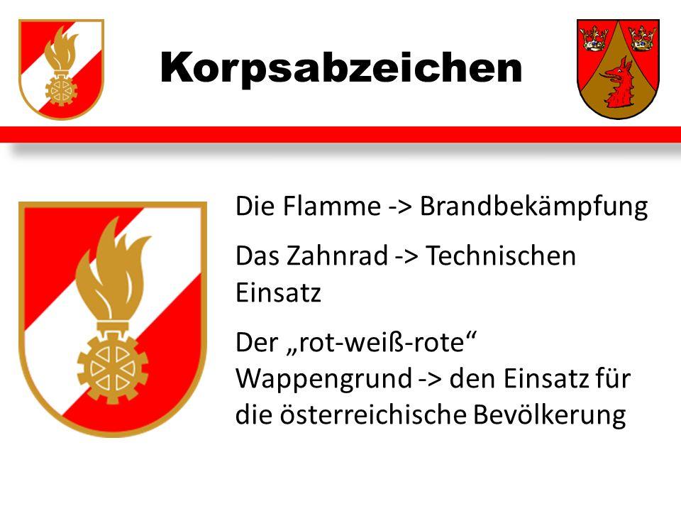 Korpsabzeichen Die Flamme -> Brandbekämpfung