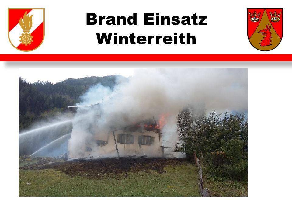Brand Einsatz Winterreith