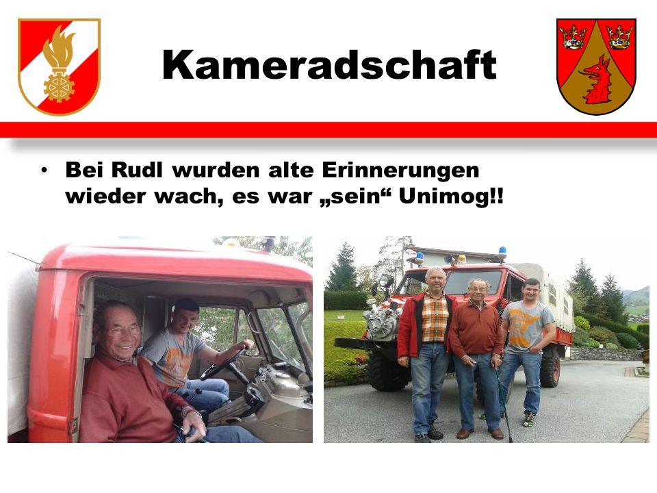 """Kameradschaft Bei Rudl wurden alte Erinnerungen wieder wach, es war """"sein Unimog!!"""