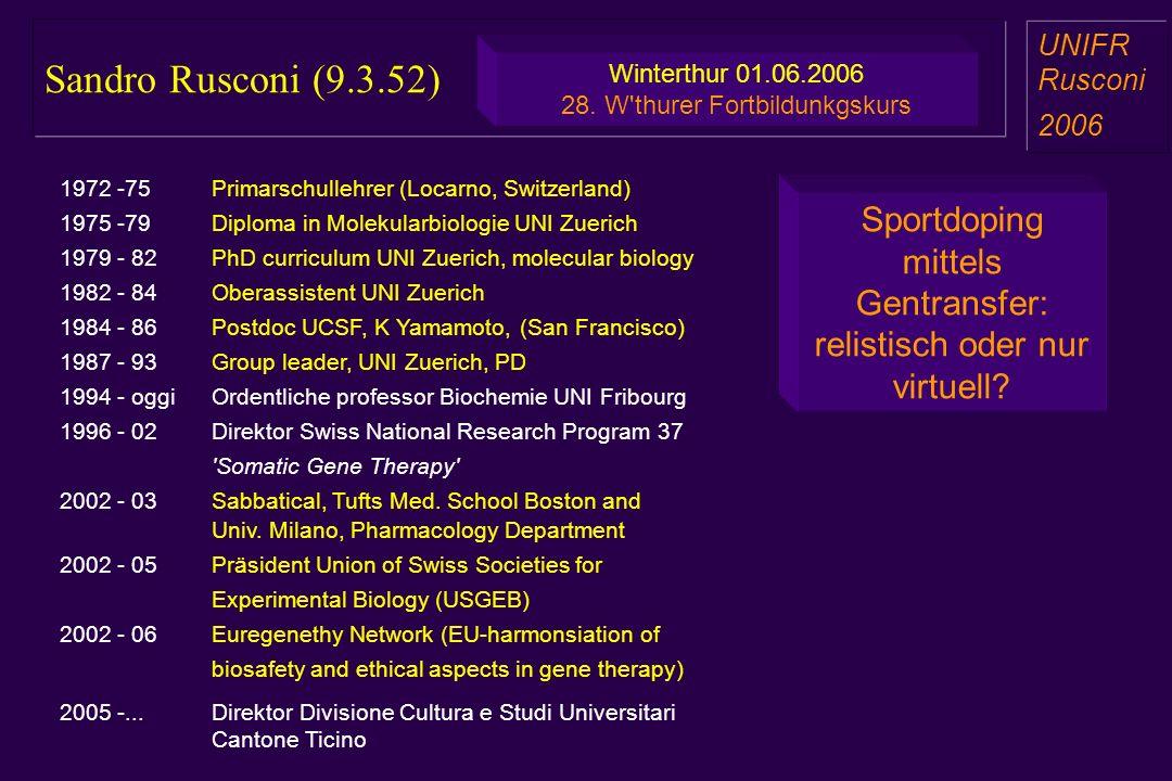 Sandro Rusconi (9.3.52) UNIFR. Rusconi. 2006. Winterthur 01.06.2006. 28. W thurer Fortbildunkgskurs.
