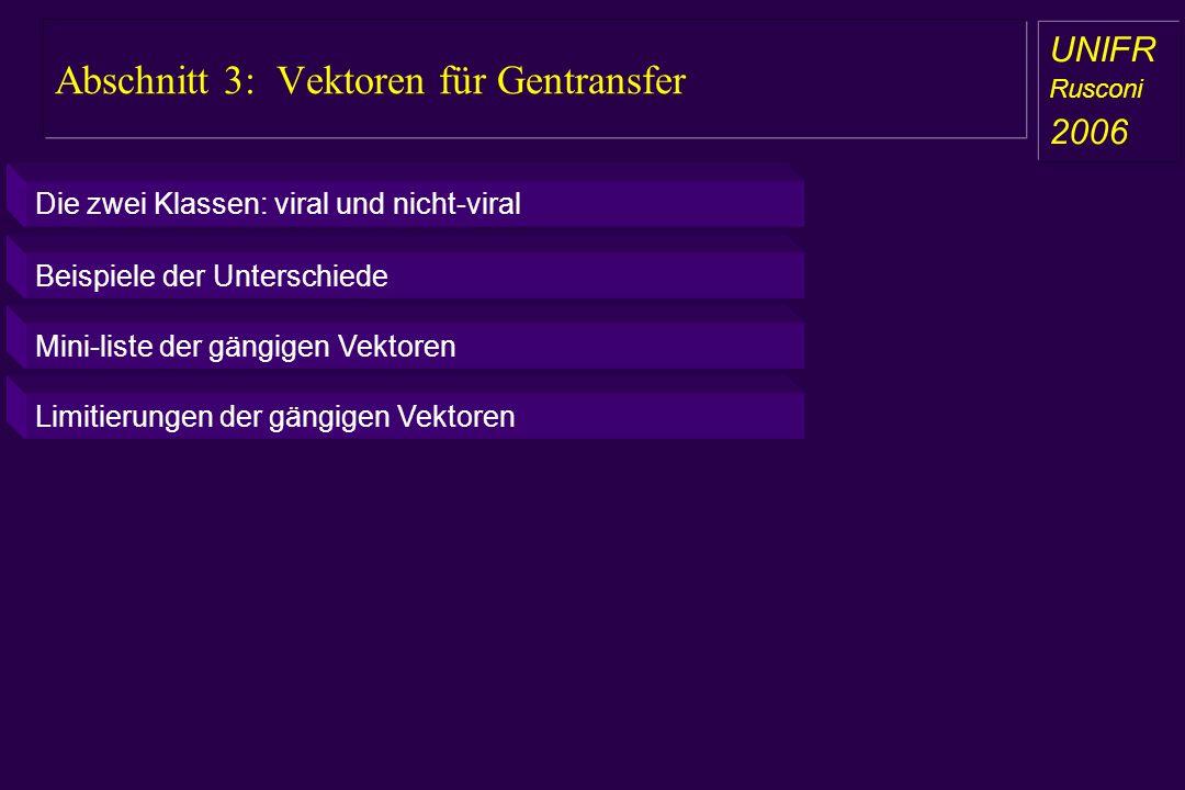 Abschnitt 3: Vektoren für Gentransfer