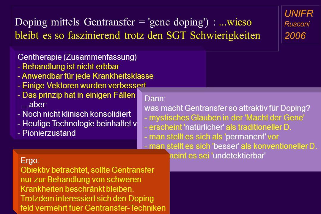 Doping mittels Gentransfer = gene doping ) :