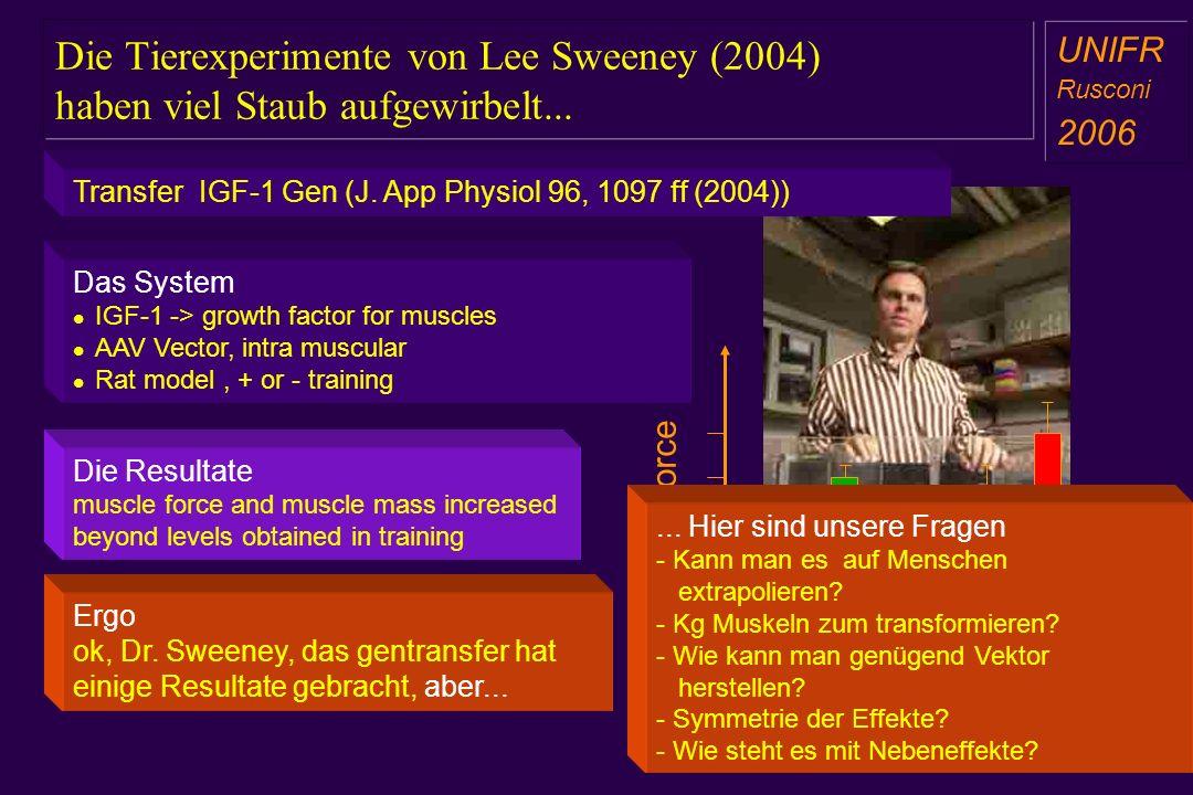 Die Tierexperimente von Lee Sweeney (2004) haben viel Staub aufgewirbelt...