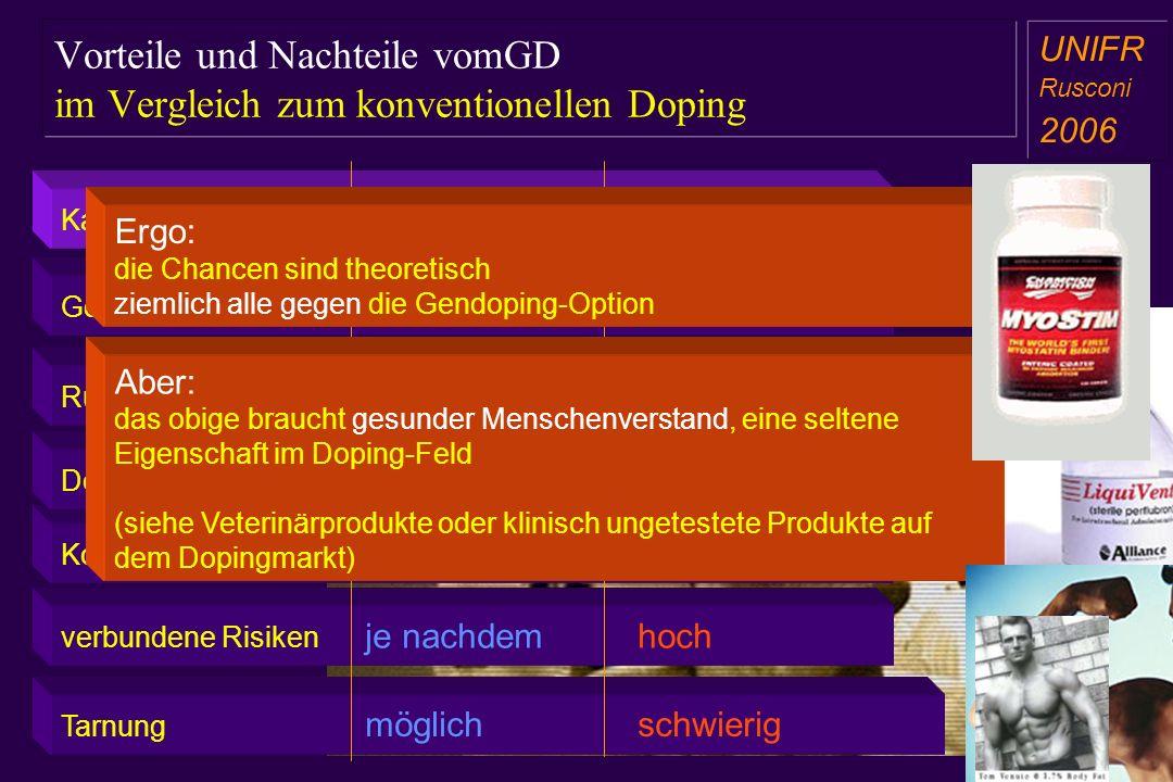 Vorteile und Nachteile vomGD im Vergleich zum konventionellen Doping