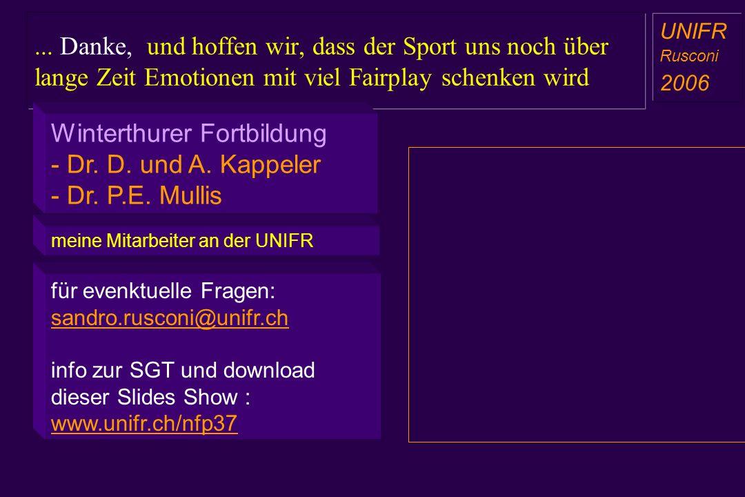 Winterthurer Fortbildung - Dr. D. und A. Kappeler - Dr. P.E. Mullis
