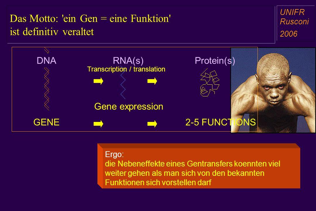 Das Motto: ein Gen = eine Funktion ist definitiv veraltet