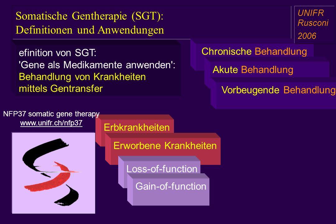 Somatische Gentherapie (SGT): Definitionen und Anwendungen