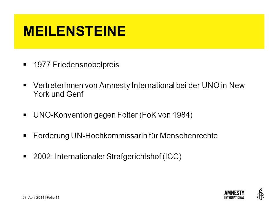 MEILENSTEINE 1977 Friedensnobelpreis