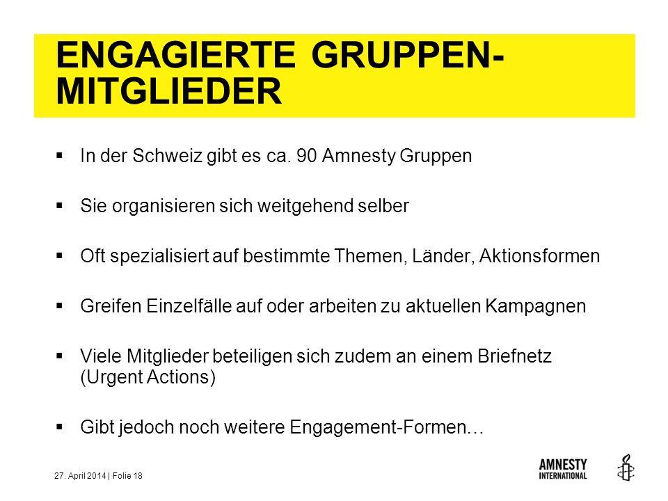 ENGAGIERTE GRUPPEN-MITGLIEDER