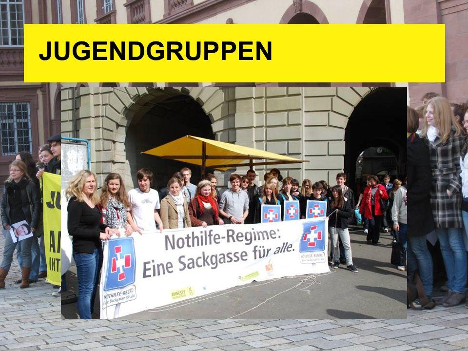 JUGENDGRUPPEN Es gibt zur Zeit knapp 20 Jugend- und Hochschulgruppen in der ganzen Schweiz.