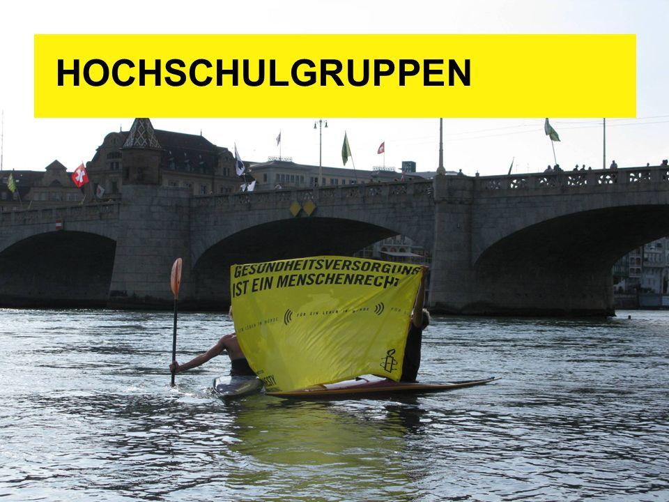 HOCHSCHULGRUPPEN Ca. 10 Hochschulgruppen in der ganzen Schweiz