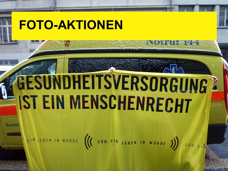 FOTO-AKTIONEN Zur Dignity-Aktion, der momentan prioritären Kampagne von Amnesty International: ((( Für ein Leben in Würde )))