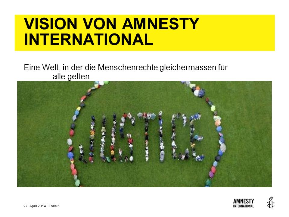 VISION VON AMNESTY INTERNATIONAL