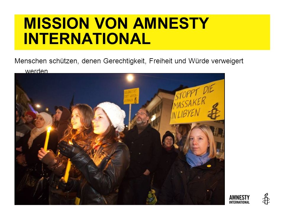 MISSION VON AMNESTY INTERNATIONAL