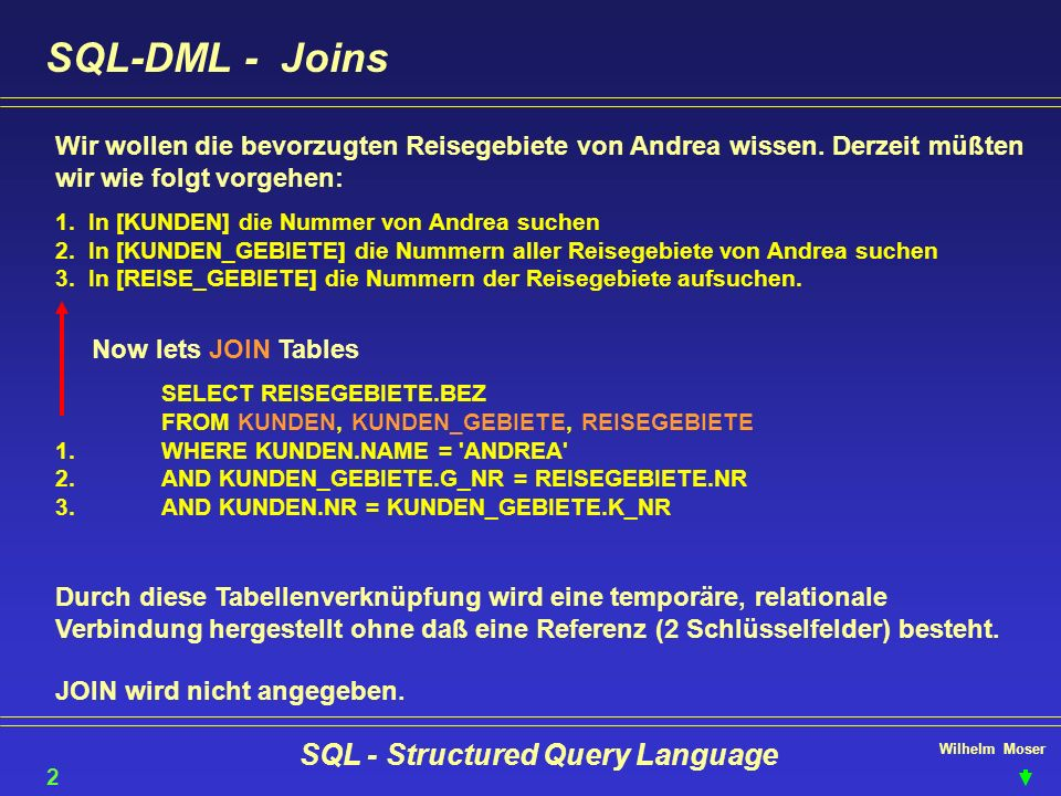 SQL - Structured Query Language