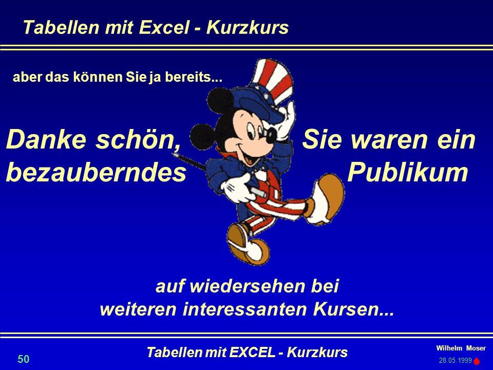 Tabellen mit Excel - Kurzkurs