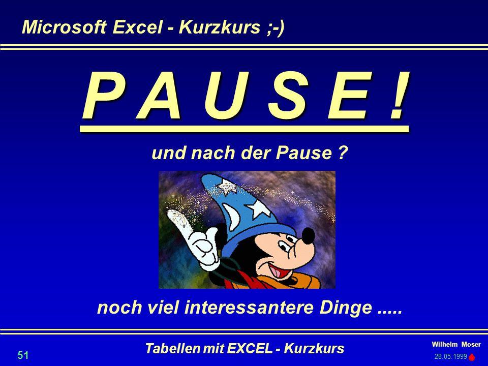 Microsoft Excel - Kurzkurs ;-)