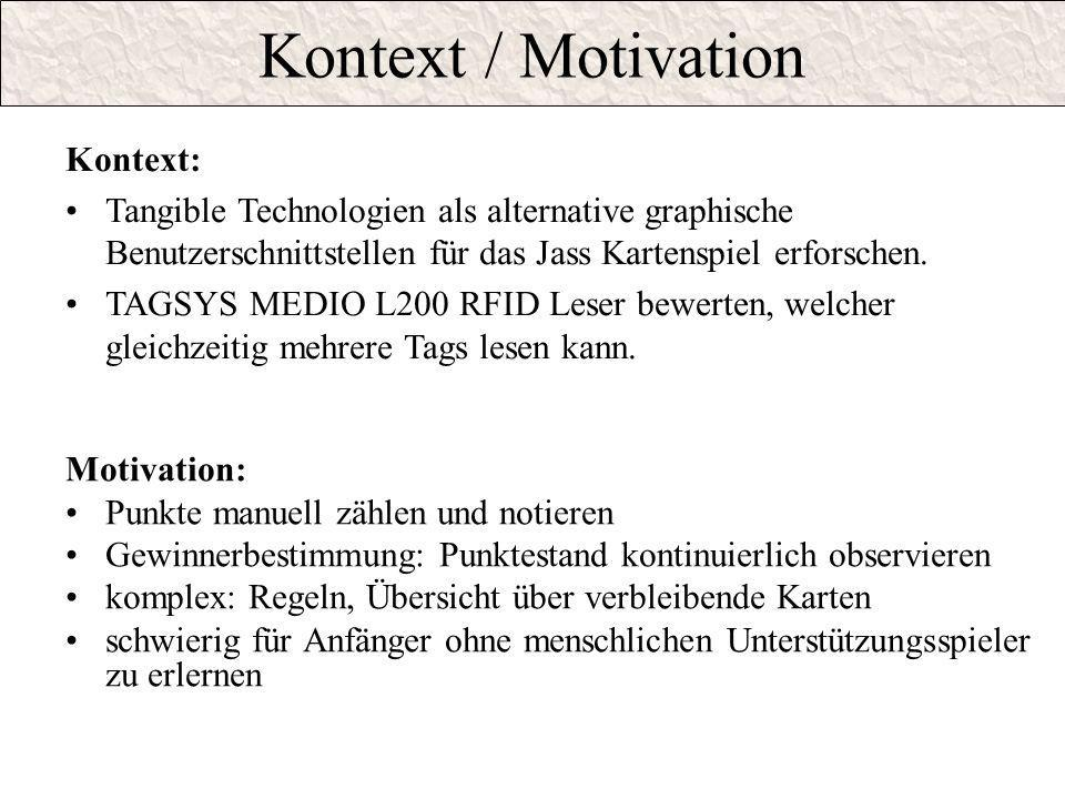 Kontext / Motivation Kontext: