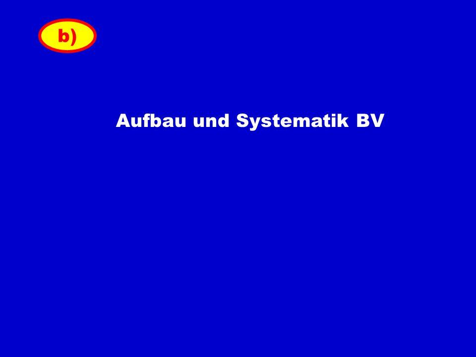 b) Aufbau und Systematik BV
