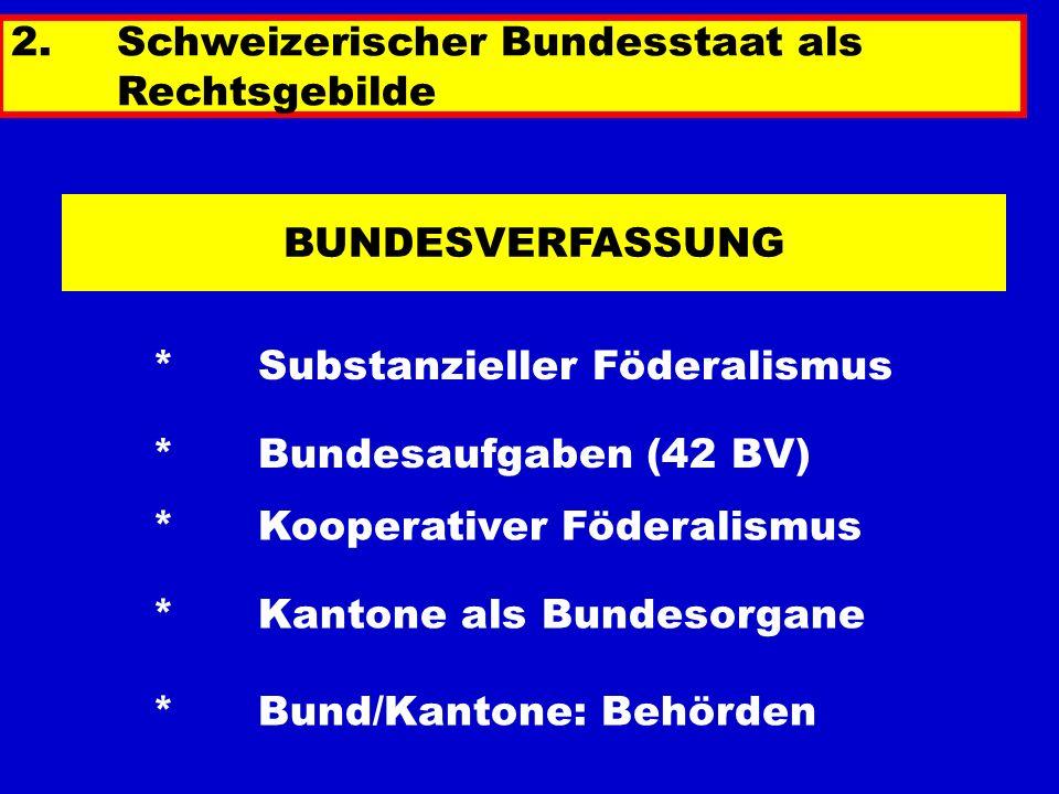 2. Schweizerischer Bundesstaat als Rechtsgebilde