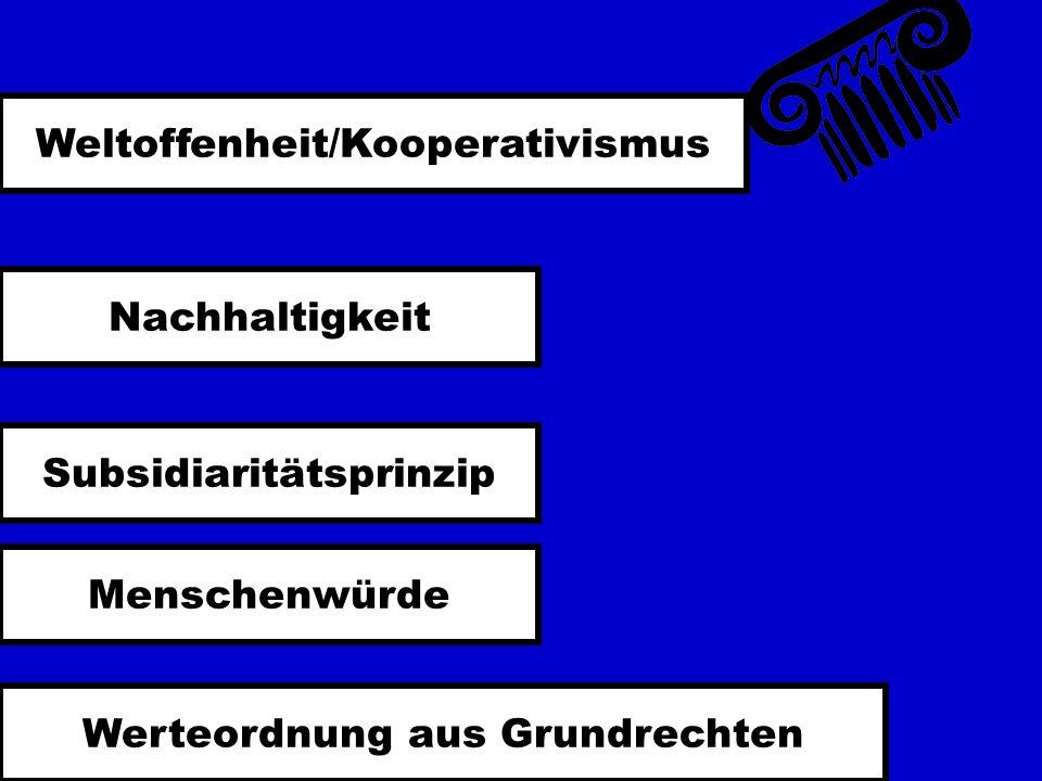 Weltoffenheit/Kooperativismus