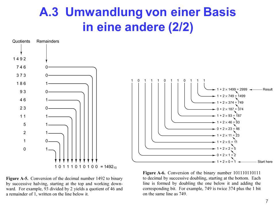 A.3 Umwandlung von einer Basis in eine andere (2/2)