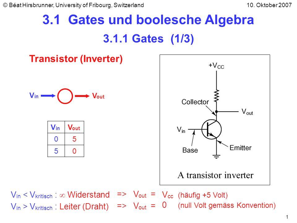 3.1 Gates und boolesche Algebra