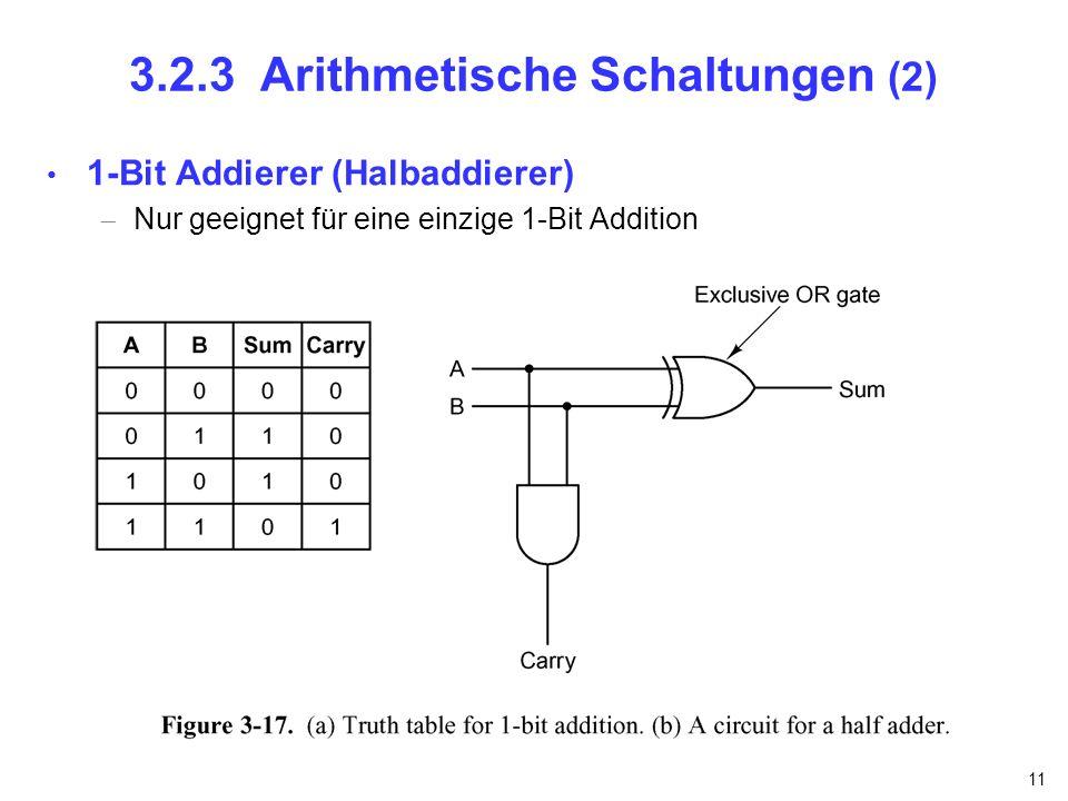 3.2.3 Arithmetische Schaltungen (2)