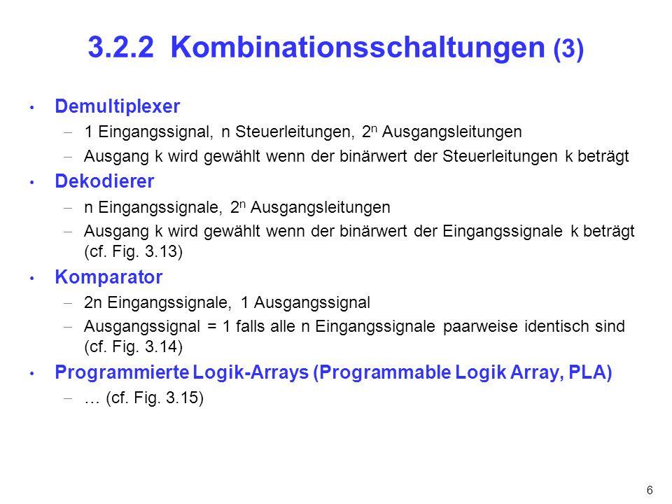 3.2.2 Kombinationsschaltungen (3)