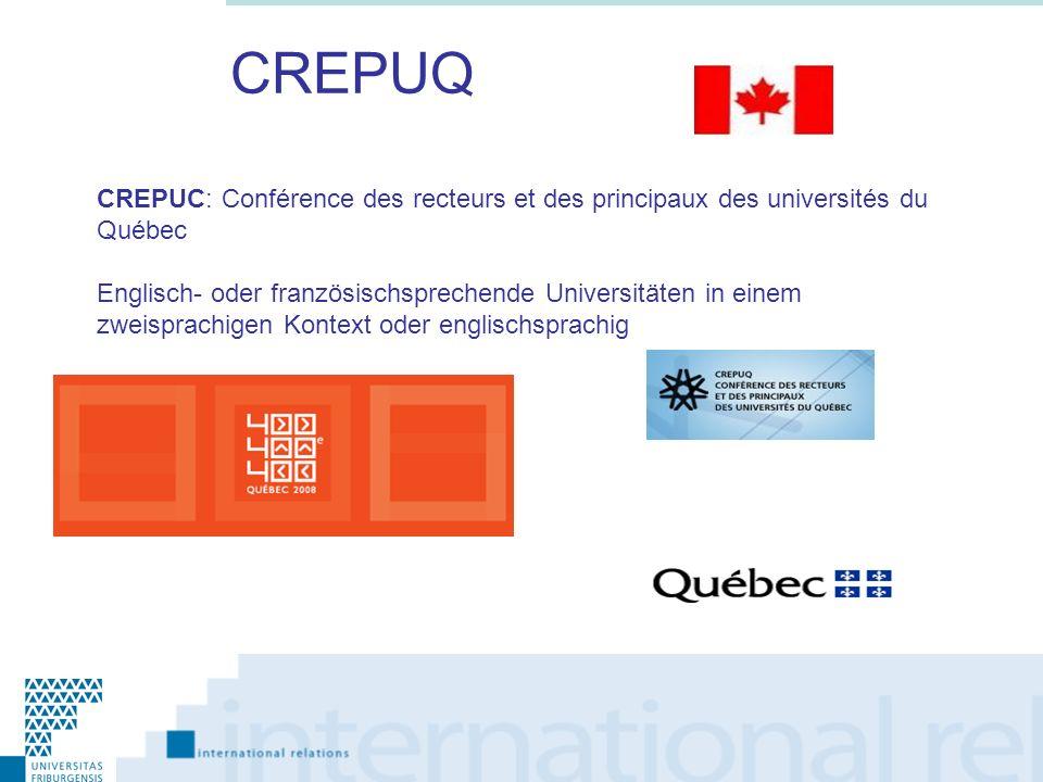 CREPUQ CREPUC: Conférence des recteurs et des principaux des universités du Québec.
