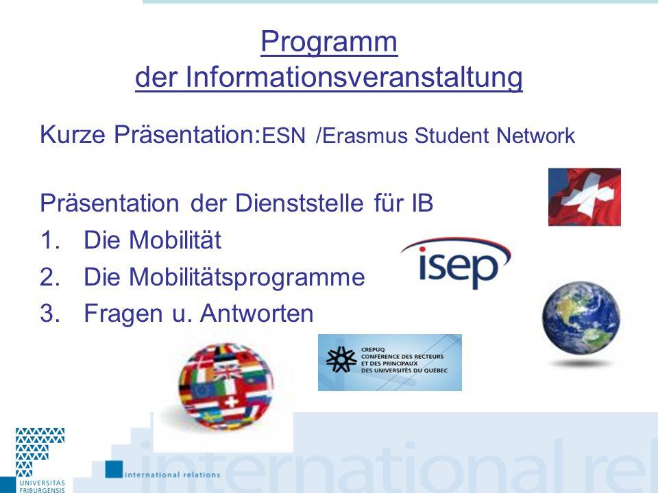 Programm der Informationsveranstaltung