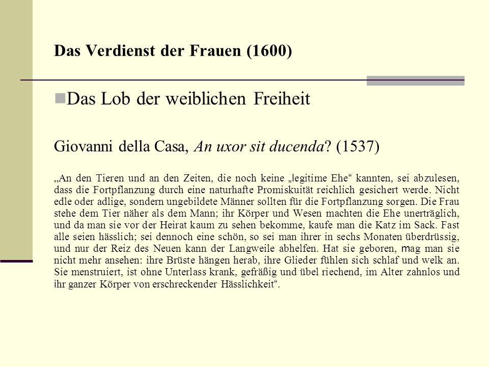 Das Verdienst der Frauen (1600)