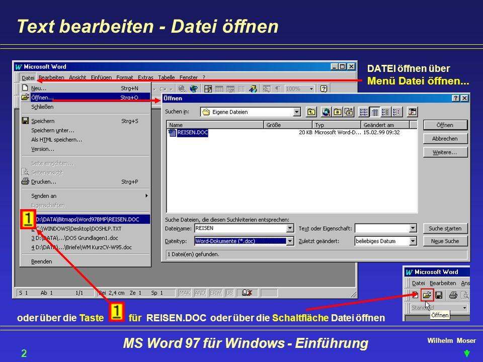MS Word 97 für Windows - Einführung
