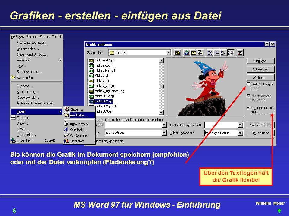 Grafiken - erstellen - einfügen aus Datei