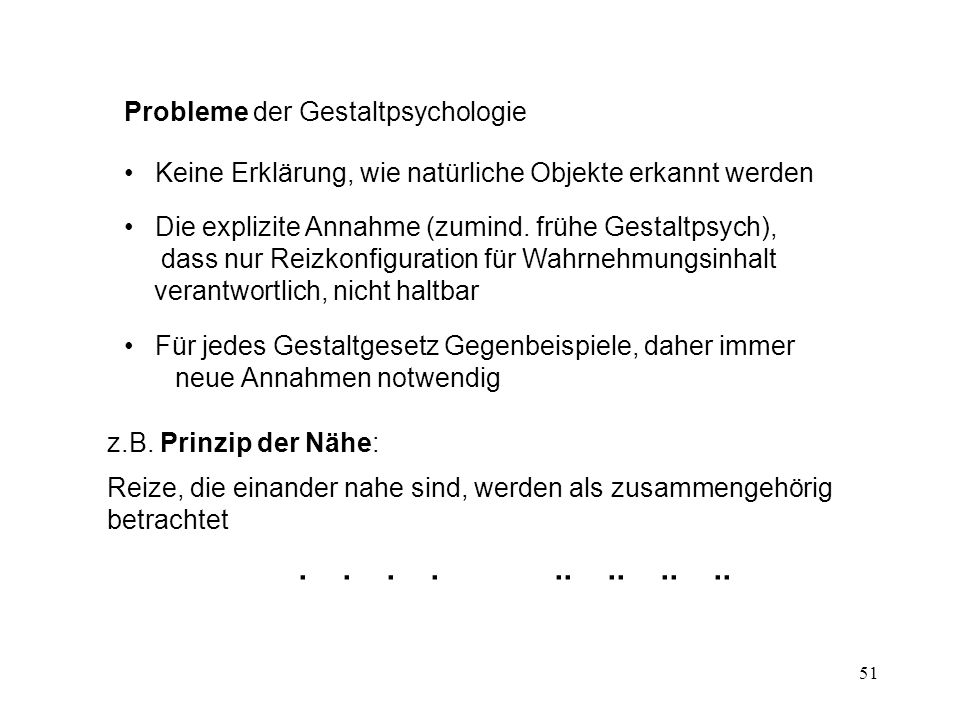 Probleme der Gestaltpsychologie
