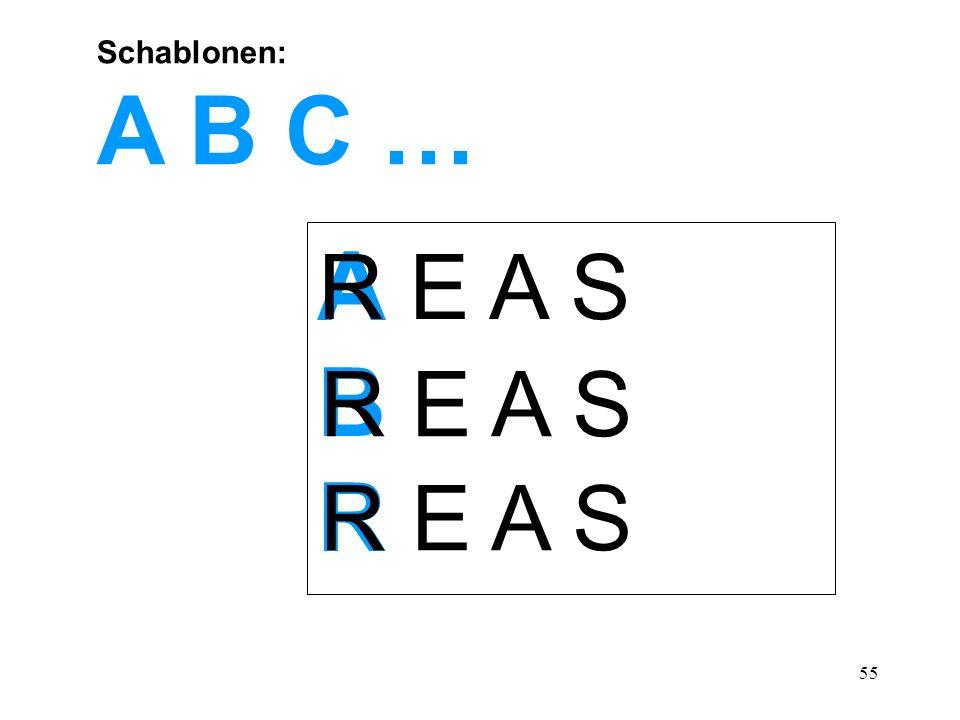 Schablonen: A B C … A B R R E A S
