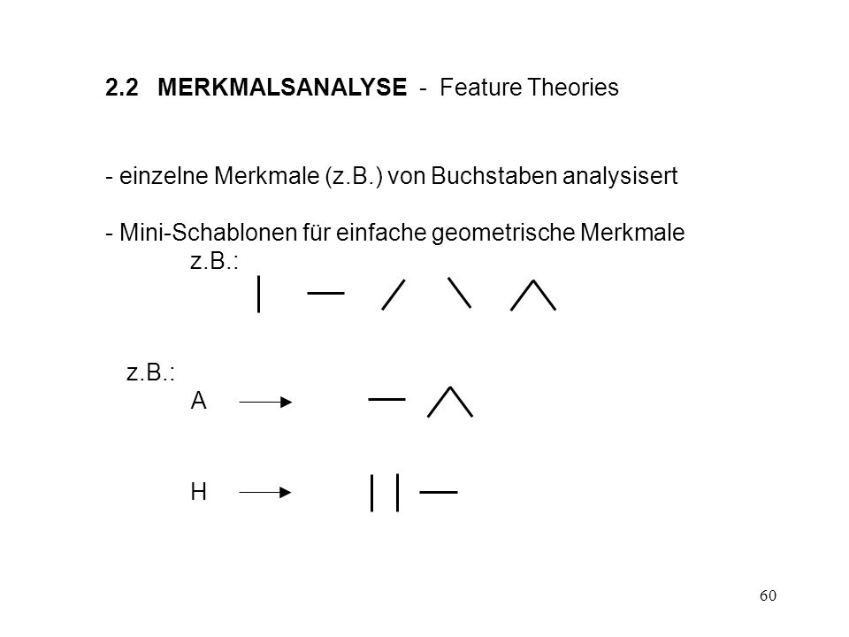 2.2 MERKMALSANALYSE - Feature Theories