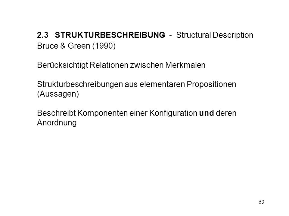 2.3 STRUKTURBESCHREIBUNG - Structural Description