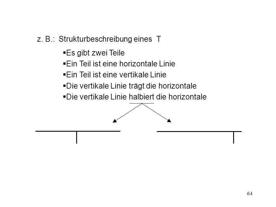 z. B.: Strukturbeschreibung eines T