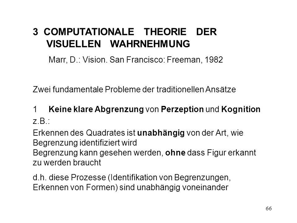 3 COMPUTATIONALE THEORIE DER VISUELLEN WAHRNEHMUNG