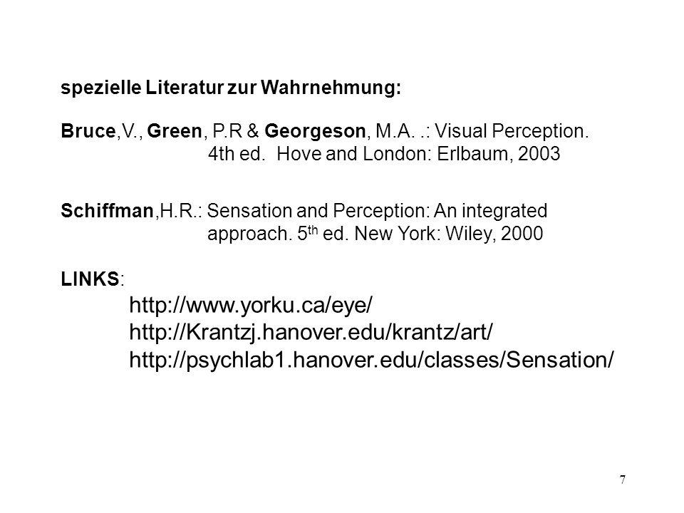 http://www.yorku.ca/eye/ http://Krantzj.hanover.edu/krantz/art/