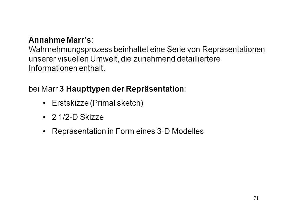 Annahme Marr's:
