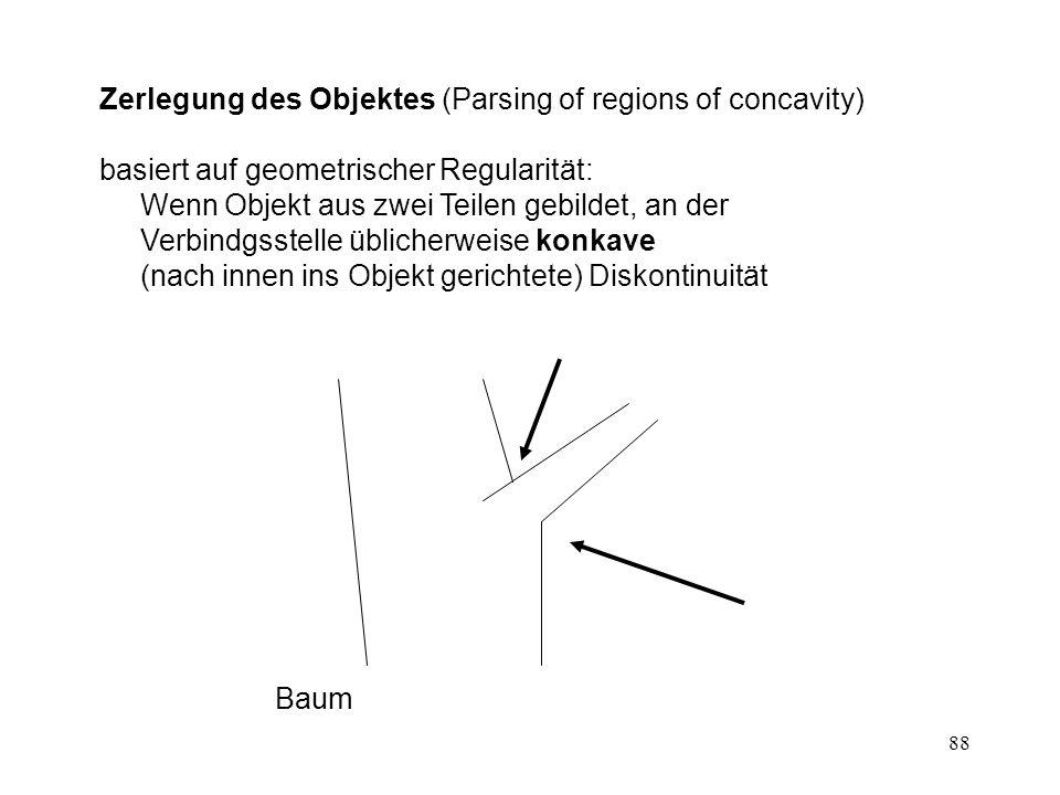 Zerlegung des Objektes (Parsing of regions of concavity)