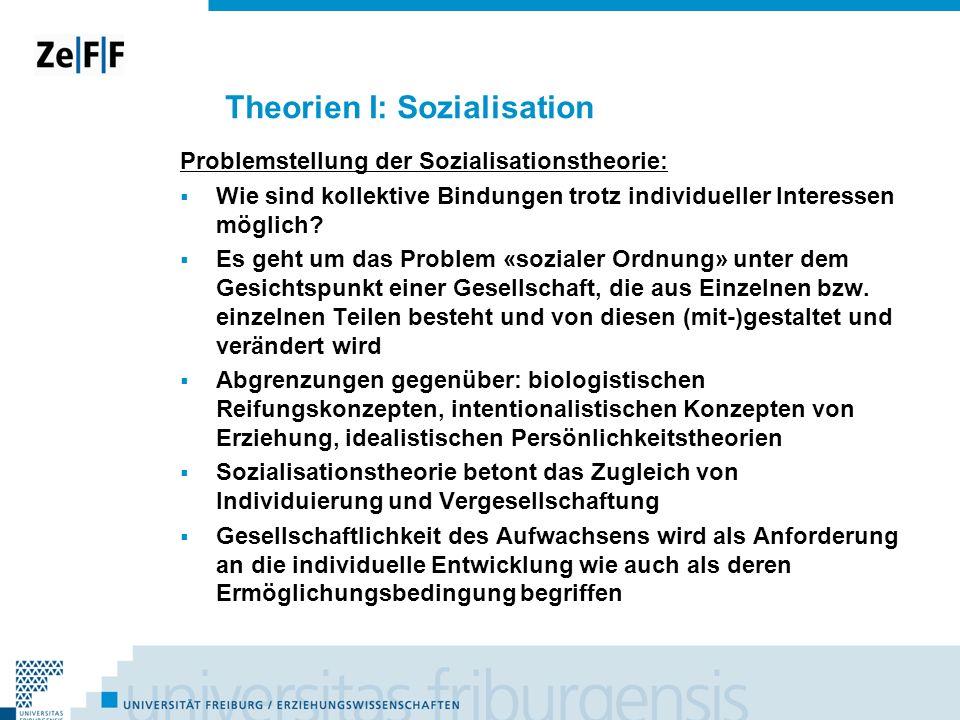 Theorien I: Sozialisation